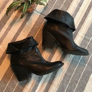 Lucky brand black leather Ethann bootie size 9